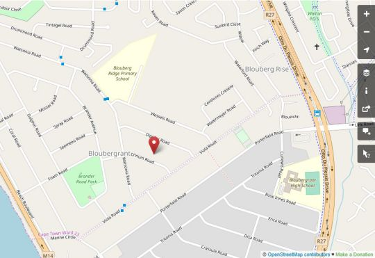 Map Port House in Bloubergstrand  Blaauwberg  Cape Town  Western Cape  South Africa