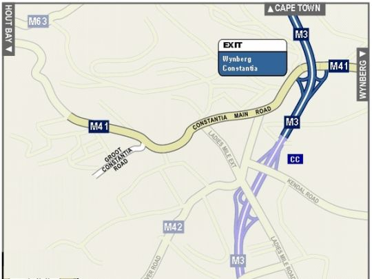 Map Cottage Chenin in Constantia (CPT)  Southern Suburbs (CPT)  Cape Town  Western Cape  South Africa