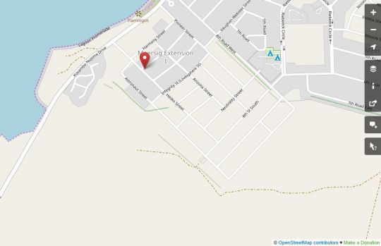 Map Bella Luna Bed and Breakfast in Walvis Bay  Erongo  Namibia