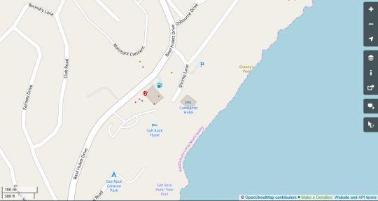 Map The Beach House in Salt Rock  North Coast (KZN)  KwaZulu Natal  South Africa