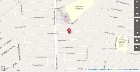 Map Embrace Guesthouse in Brackenhurst  Alberton  Ekurhuleni (East Rand)  Gauteng  South Africa