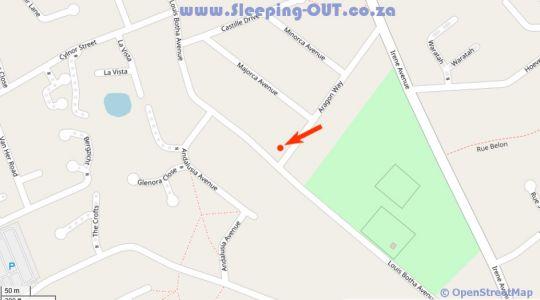 Map Somerset Hill Guest House in Somerset West  Helderberg  Western Cape  Suid-Afrika