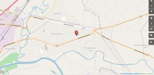 Map Sinesan Guesthouse in Vereeniging  Sedibeng District  Gauteng  South Africa