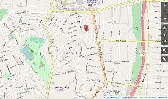 Map Home Suite Hotels Rosebank in Rosebank (JHB)  Northcliff/Rosebank  Johannesburg  Gauteng  South Africa