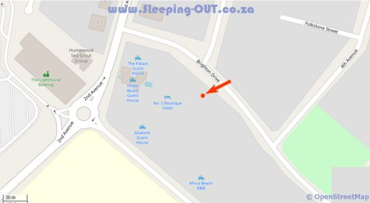 Map The Studio at Brighton Manor in Summerstrand  Port Elizabeth  Cacadu (Sarah Baartman)  Eastern Cape  South Africa