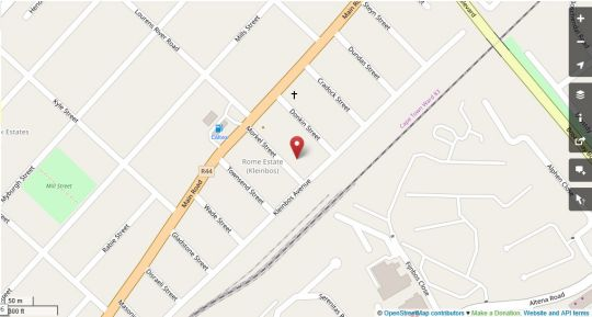 Map Lodge Strand (The) in Strand  Helderberg  Western Cape  South Africa