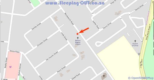 Map Moye Guest House in Benoni  Ekurhuleni (East Rand)  Gauteng  South Africa