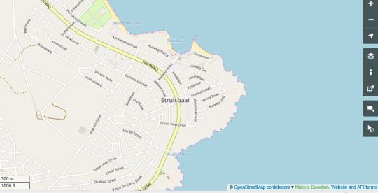 Map Old Cape Last Trading Post in Struisbaai  Overberg  Western Cape  South Africa