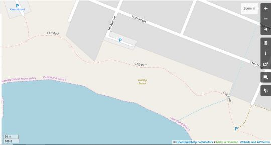 Map Troon Beach Cottage in Hermanus  Overberg  Western Cape  South Africa