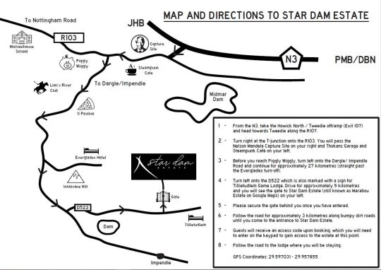 Map Star Dam Estate in Dargle  Midlands  KwaZulu Natal  South Africa