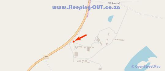 Map Simonsberg Silo\'s in Stellenbosch  Cape Winelands  Western Cape  South Africa
