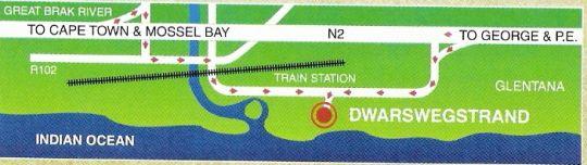 Map Alte Prettig S/C in Glentana  Garden Route  Western Cape  South Africa