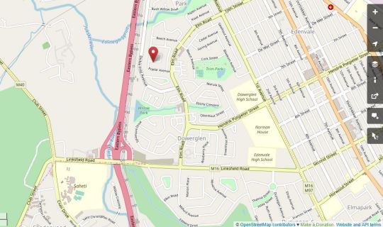 Map Debby\'s Place in Edenvale  Ekurhuleni (East Rand)  Gauteng  South Africa
