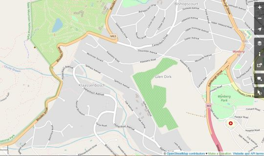 Map The Scotty Dog in Bishopscourt  Southern Suburbs (CPT)  Cape Town  Western Cape  South Africa