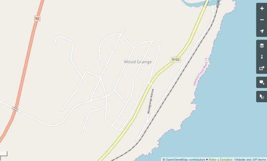 Map Anchors Aweigh in Hibberdene  South Coast (KZN)  KwaZulu Natal  South Africa