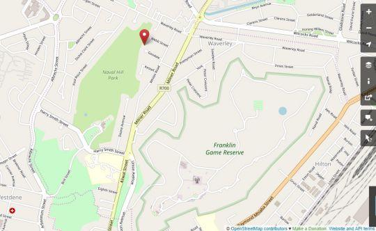 Map Pikoko Boutique Hotel Waverley in Bloemfontein  Mangaung  Free State  Afrique du Sud