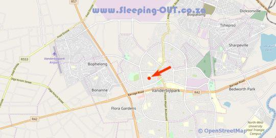 Map White Rose Guest House in Vanderbijlpark  Sedibeng District  Gauteng  South Africa