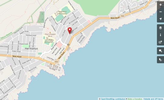 Map Port Del Mar Luxury Guesthouse in Hermanus  Overberg  Western Cape  South Africa