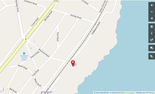 Map Dolphin Place in Southport  South Coast (KZN)  KwaZulu Natal  South Africa
