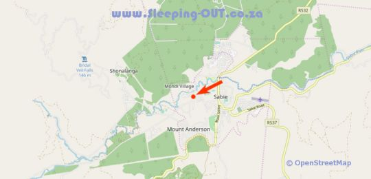 Map Sabie Gypsy\'s Backpackers in Sabie  The Panorama  Mpumalanga  South Africa