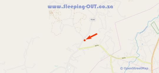 Map Rhino and Lion Nature Reserve and Bothongo Wonder  in Kromdraai  West Rand  Gauteng  South Africa