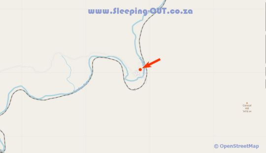 Map Buccara Wildlife Reserve Main House in Graaff-Reinet  Cacadu (Sarah Baartman)  Eastern Cape  South Africa