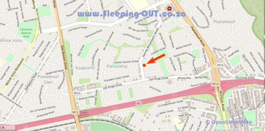 Map Walter Levy A in Panorama (CPT)  Northern Suburbs (CPT)  Cape Town  Western Cape  South Africa