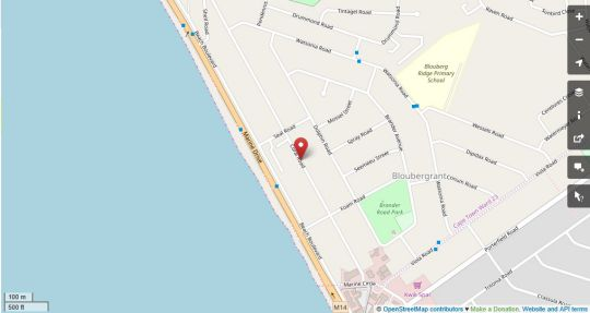 Map Atlantic Terraces 40 in Bloubergstrand  Blaauwberg  Cape Town  Western Cape  South Africa