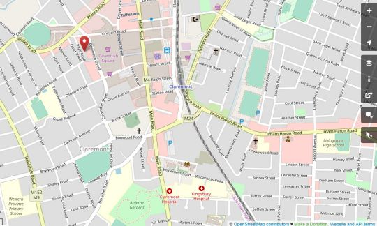 Map Central Claremont Garden Apartment in Claremont  Southern Suburbs (CPT)  Cape Town  Western Cape  South Africa