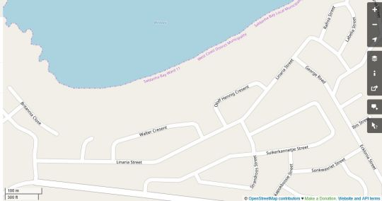 Map Three Anchor Self Catering in Britannia Bay  West Coast (WC)  Western Cape  South Africa