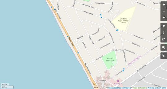 Map Atlantic Terraces 20 in Bloubergstrand  Blaauwberg  Cape Town  Western Cape  South Africa