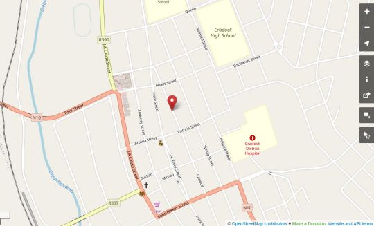 Map Cathy\'s Guesthouse in Cradock  Stormberg District  Eastern Cape  South Africa