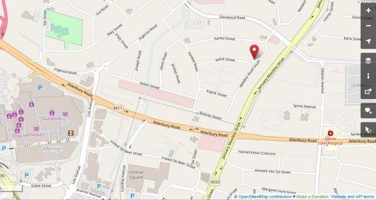 Map 64 on Malabor in Lynnwood Glen  Pretoria East  Pretoria / Tshwane  Gauteng  South Africa