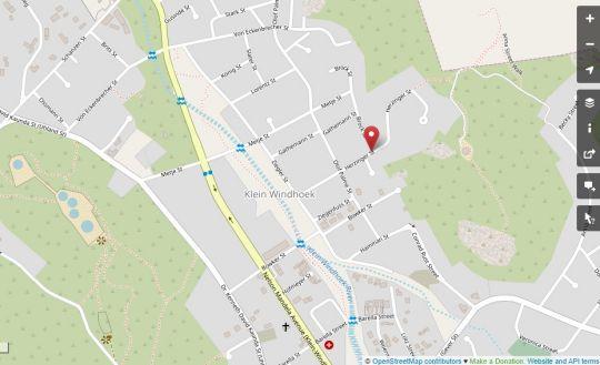 Map Herzinger Boutique Guesthouse in Windhoek  Khomas  Namibia