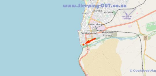 Map Swakop Strand Apartments in Swakopmund  Erongo  Namibia