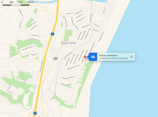 Map Withuis  in Hartenbos  Garden Route  Western Cape  South Africa