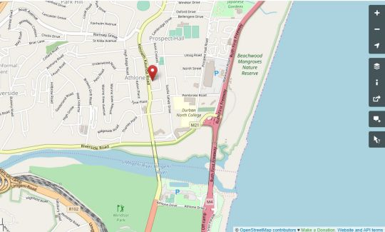 Map Bernies Lodge & Bnb in Durban North  Northern Suburbs (DBN)  Durban and Surrounds  KwaZulu Natal  Südafrika
