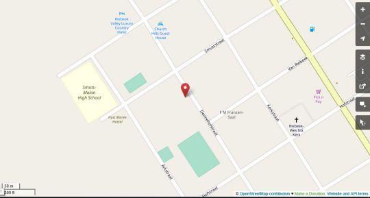 Map Keerweder in Riebeek West  Cape Winelands  Western Cape  South Africa