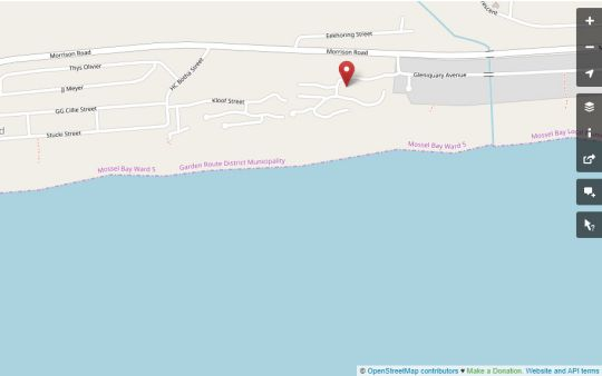 Map Nature on Sea Holiday House in Great Brak River  Garden Route  Western Cape  South Africa