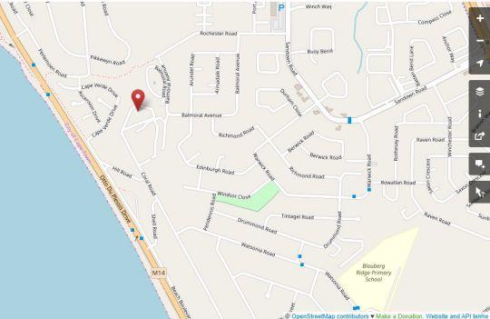 Map Mont Serrat 58 in West Beach  Blaauwberg  Cape Town  Western Cape  South Africa