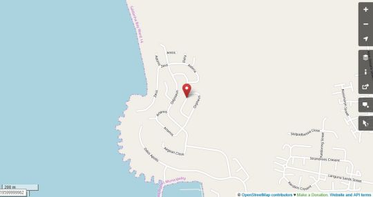 Map Malindila House in Langebaan  West Coast (WC)  Western Cape  South Africa