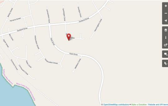 Map Bel-Posto in Langebaan  West Coast (WC)  Western Cape  South Africa