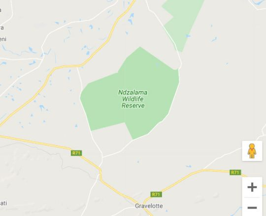 Map Ndzalama Nature Reserve and Lodge in Gravelotte  Valley of the Olifants  Limpopo  South Africa