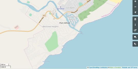 Map 4 Carnoustie House in Port Alfred  Cacadu (Sarah Baartman)  Eastern Cape  South Africa