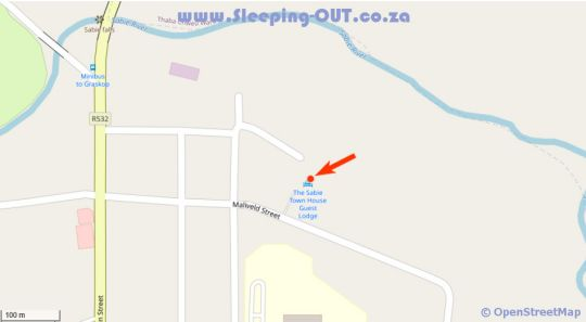 Map The Sabie Town House in Sabie  The Panorama  Mpumalanga  South Africa