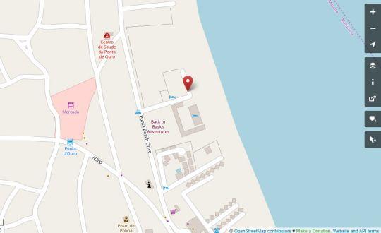Map Ponta Beach Houses in Ponta d'Ouro  Maputo  Mozambique