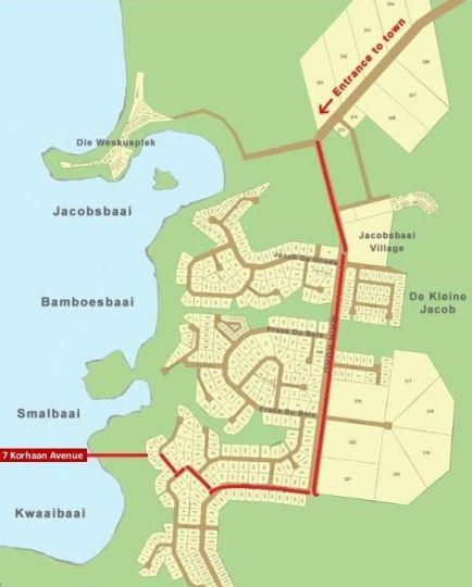 Map Lavender in Jacobsbaai  West Coast (WC)  Western Cape  South Africa