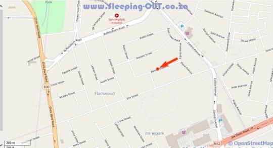 Map La Benroy in Klerksdorp  Southern (NW)  North West  South Africa