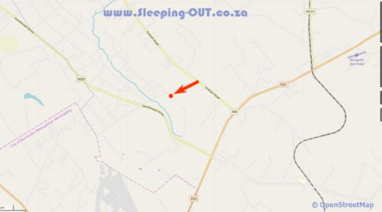 Map Country Side Self-Catering Accommodation in Tierpoort  Pretoria East  Pretoria / Tshwane  Gauteng  Zuid-Afrika