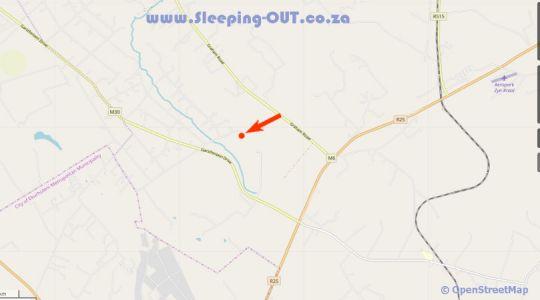 Map Country Side Self-Catering Accommodation in Tierpoort  Pretoria East  Pretoria / Tshwane  Gauteng  Suid-Afrika